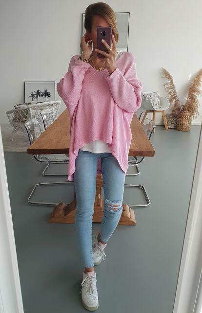 Pullover V-NECK LIGHT SUMMER- versch. Farben
