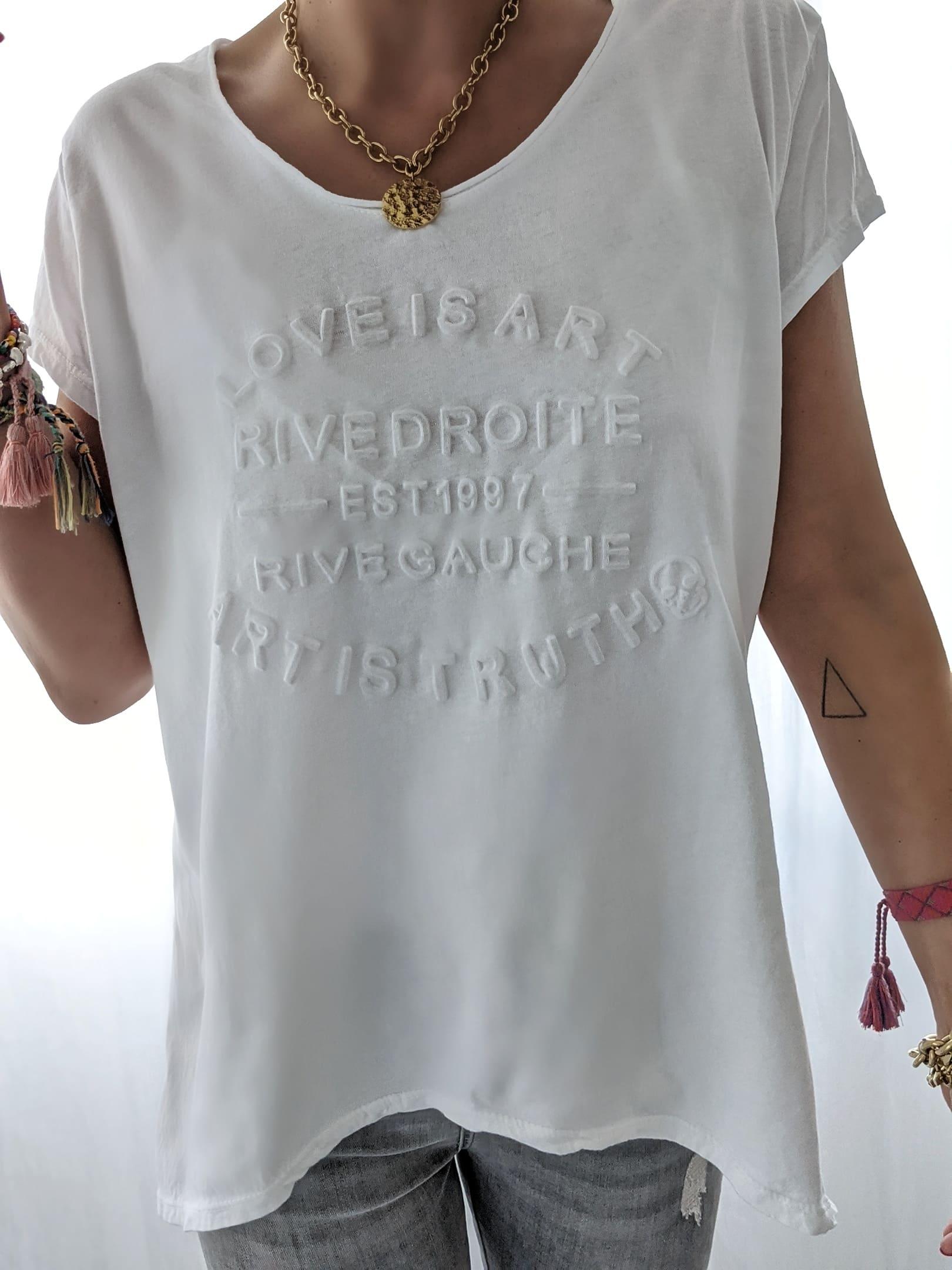 T-Shirt Relief Love is Art