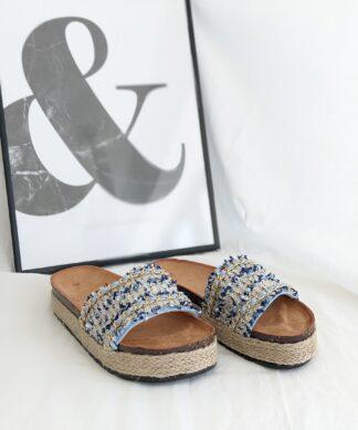 Pantolette GOLDEN WALK-blau