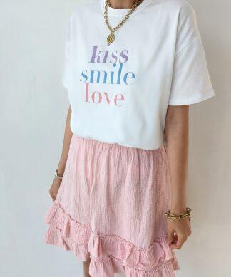T-Shirt KISS SMILE LOVE
