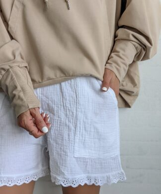Musselin Shorts ALL WHITE