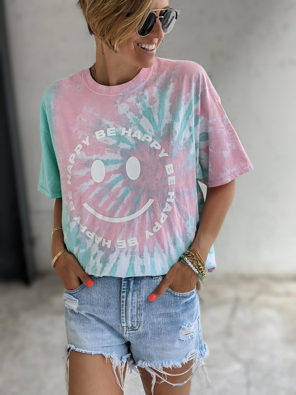 Shirt HAPPY SMILEY BATIK