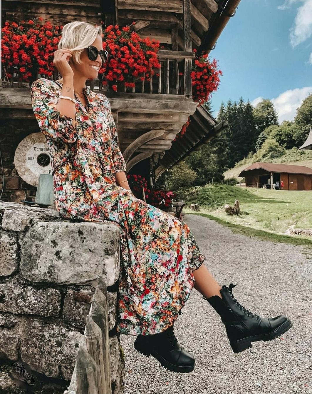 langes Kleid WILD FLOWERS