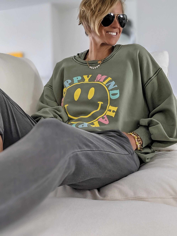 Sweater Happy Mind – verschiedene Farben