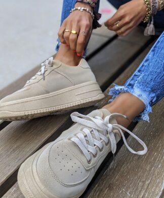 Sneaker in Wildleder Optik HIGH LEVEL