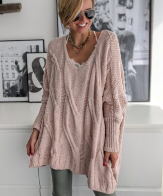 Oversize Pullover CABLE KNIT – versch. Farben
