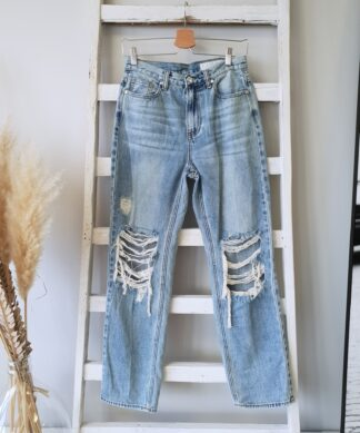Straight Jeans STELLA  – destroyed Look