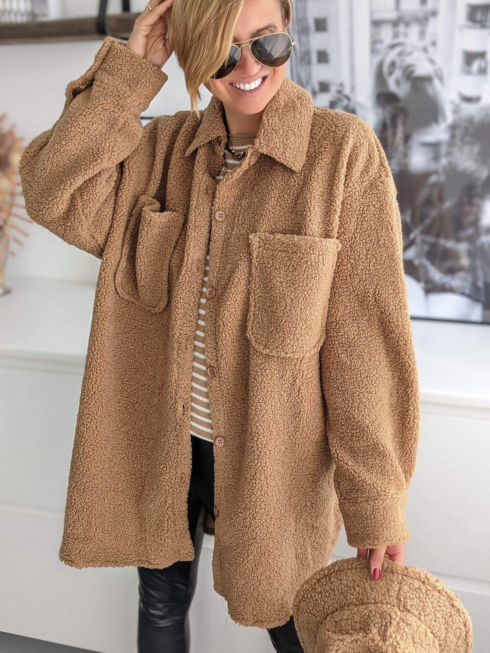 Oversize Hemdjacke SHEEP THRILLS-teddy-braun