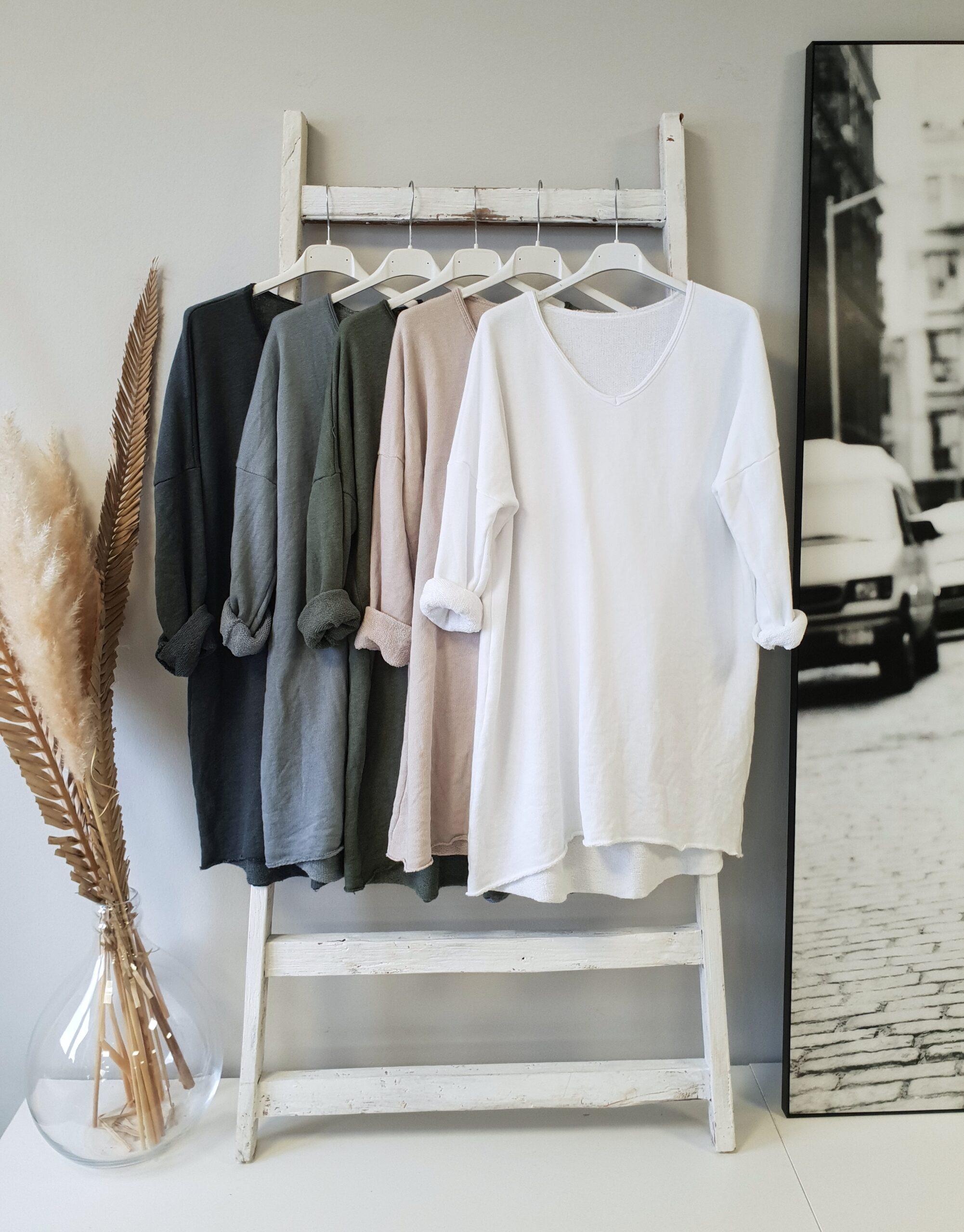 Longsweater V-Neck BASIC BUT BEAUTIFUL – AUTUMN COLOURS