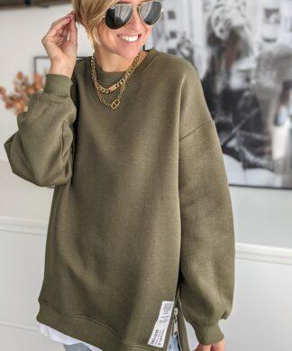 Sweater ZIP N STYLE khaki